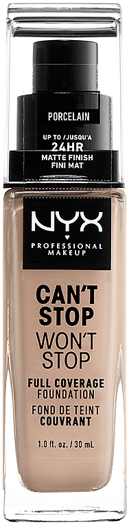Тональная основа - NYX Professional Makeup Can't Stop Won't Stop Full Coverage Foundation
