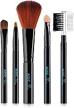 Духи, Парфюмерия, косметика Набор кистей для макияжа 5шт, черные - Aise Line Makeup Brush Set