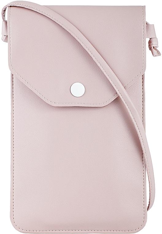 """Чехол-сумка для телефона на ремешке, пудровый """"Cross"""" - Makeup Phone Case Crossbody Powder"""