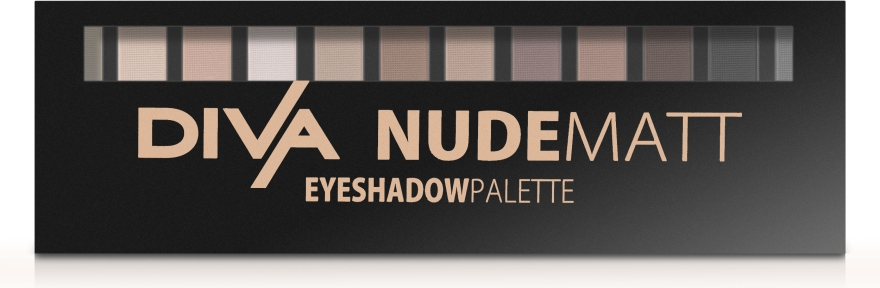 Палетка теней для глаз - Diva Nude Matt Eyeshadow Palette — фото N2