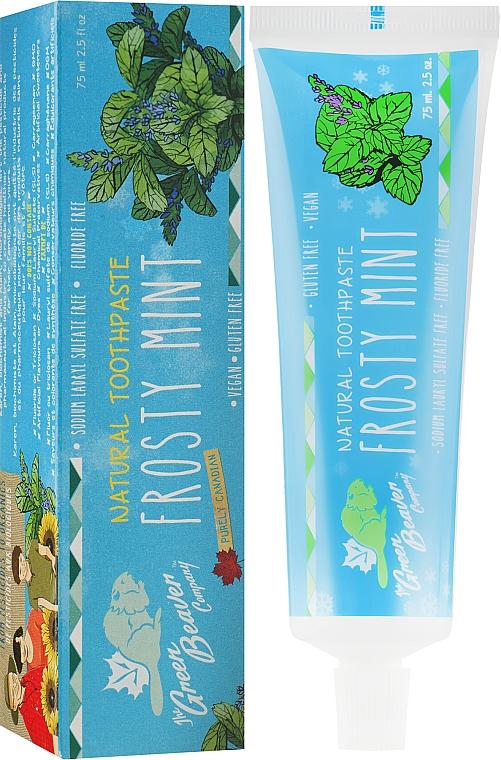 "Зубная паста ""Frosty Mint"" со вкусом ментола - Green Beaver Toothpaste"
