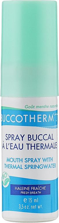 Органический спрей для полости рта на термальной воде со вкусом мяты - Buccotherm