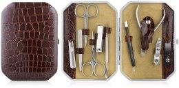 Духи, Парфюмерия, косметика Маникюрный набор, 10 предметов, коричневый - Avenir Cosmetics