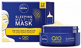 Духи, Парфюмерия, косметика Маска для лица, ночная - Nivea Q10 Power Sleeping Melt-In Mask