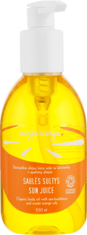Органическое масло для тела с маслом облепихи и сладкого апельсина - Uoga Uoga Sun Juice Body Oil