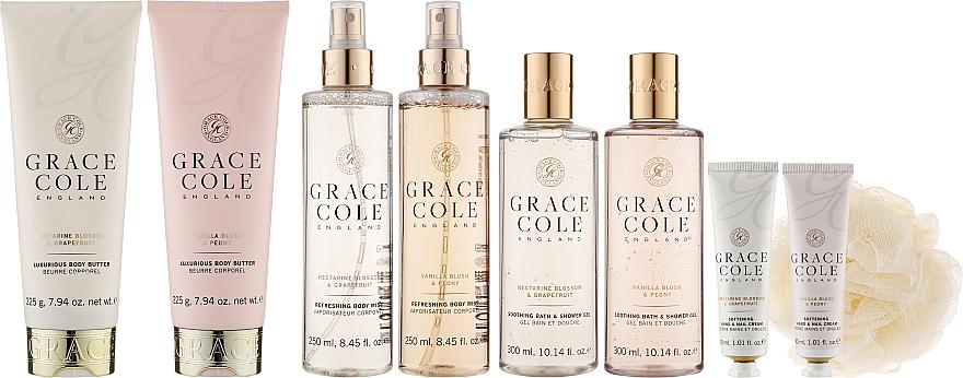 Набор - Grace Cole Indulgent Collection (2xsh/gel/300ml + 2xb/butter/225g + 2xb/mist/200ml + 2xh/cr/30ml + sponge)
