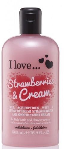 Крем для душа и пена для ванны - I Love... Strawberries & Cream Bubble Bath And Shower Creme