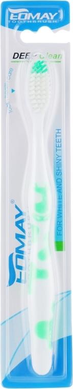 Зубна щітка, середньої жорсткості, 9808 салатова - Eomay — фото N1
