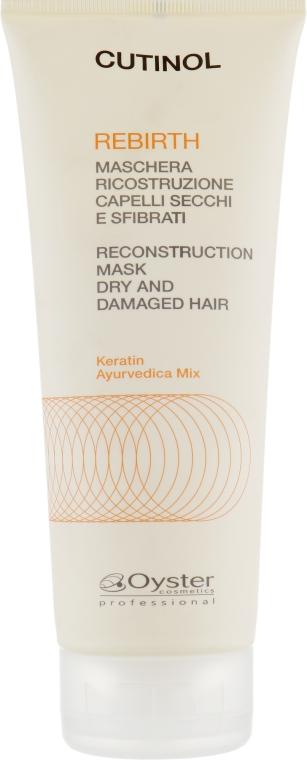 Кератиновая маска для ламинирования и реконструкции поврежденных волос - Oyster Cosmetics Cutinol Rebirth Mask