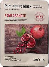 """Духи, Парфюмерия, косметика Тканевая маска для лица """"Гранат"""" - Secriss Pure Nature Pomegranate Mask"""