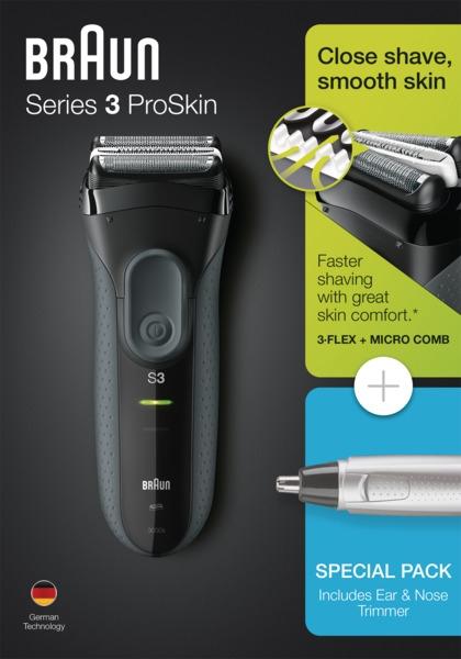 Електробритва - Braun Series 3 3000s + EN10 — фото N1