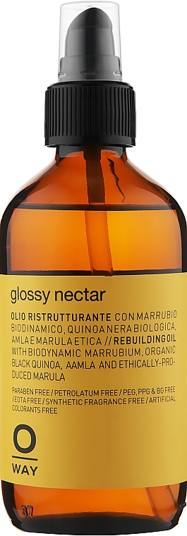 Масло для восстановления волос - Oway Glossi Nectar