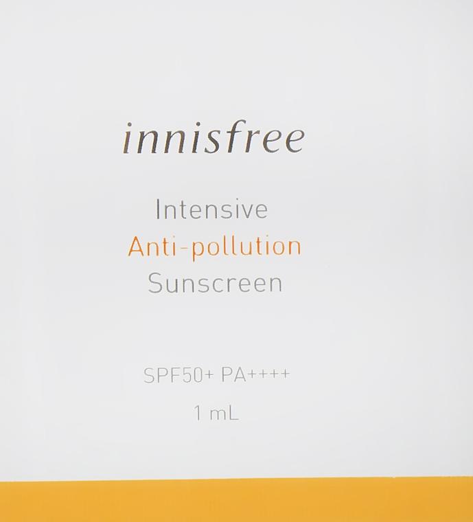 Солнцезащитный крем - Innisfree Intensive Anti Pollution Sunscreen SPF50+ PA++++ (пробник)