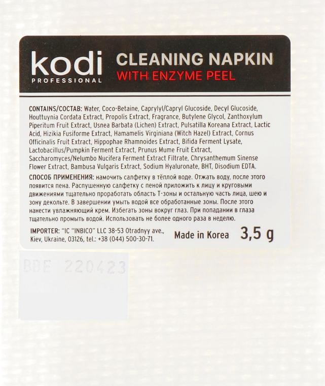 Салфетка очищающая с энзимным пилингом - Kodi Professional With Enzyme Peel