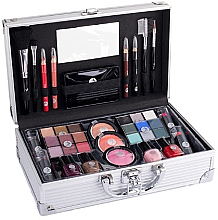 Духи, Парфюмерия, косметика Бьюти-кейс - Cosmetic 2K Fabulous Beauty Train Case Complete Makeup Palette