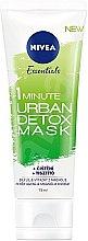 Духи, Парфюмерия, косметика Маска для лица - Nivea Daily Essentials 1 Minute Urban Detox Mask