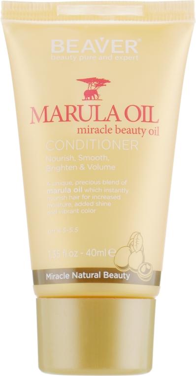 Питательный кондиционер для сухих и поврежденных волос с маслом Марулы - Beaver Professional Nourish Marula Oil Conditioner (мини)