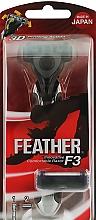 """Духи, Парфюмерия, косметика Бритвенный станок """"F3"""" c 2 запасными кассетами - Feather F3 Razor"""