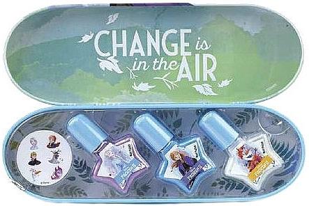 Набор лаков для ногтей в металлическом футляре - Markwins Frozen Change In The Air