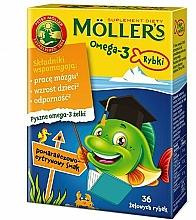 """Духи, Парфюмерия, косметика Желейные рыбки со вкусом апельсина и лимона """"Omega 3"""" - Mollers"""