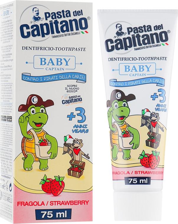 """Детская Зубная паста 3+ """"Клубника"""" - Pasta del Capitano"""