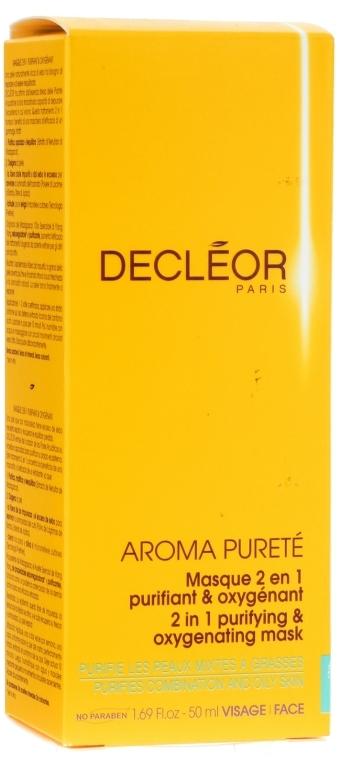 """Маска очищающая насыщающая кислородом """"2 в 1"""" - Decleor Aroma Purete Masque 2 en 1 Purifiant & Oxygenant"""