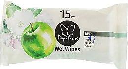 """Духи, Парфюмерия, косметика Влажные салфетки """"Фрукт терапия яблоко"""", 15 шт - Papilion Wet Wipes Apple"""