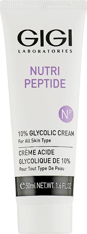 Пептидный крем с 10% гликолиевой кислотой - Gigi Nutri-Peptide 10% Glycolic Cream