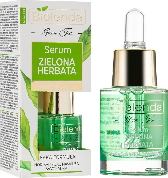 Сыворотка с маслом чайного дерева для комбинированной кожи - Bielenda Green Tea Face Serum Combination Skin