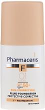 Защитный тональный флюид - Pharmaceris F Protective-Corrective Fluid Foundation SPF 50+ — фото N3
