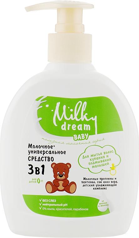 """Универсальное средство """"Для мытья волос, купания и подмывания малышей"""" - Milky Dream Baby"""