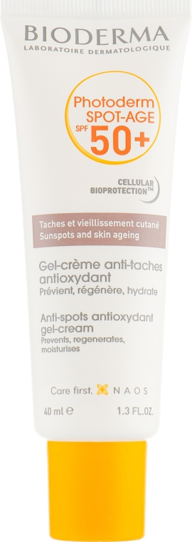 Солнцезащитный гель-крем для лица - Bioderma Photoderm Spot-Age SPF 50+