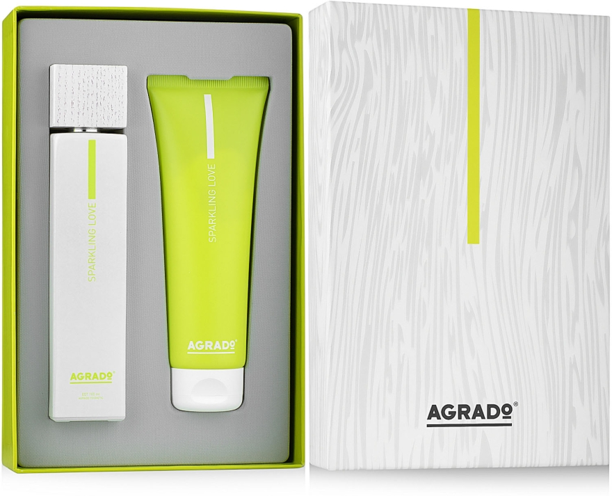 Agrado Sparkling Love - Набор (edt/100 ml + b/lot/100 ml)
