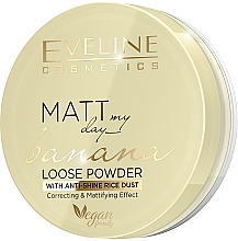 Парфумерія, косметика Розсипна бананова пудра для обличчя - Eveline Cosmetics Matt My Day Banana Powder