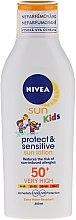 Духи, Парфюмерия, косметика Солнцезащитный лосьон для детей - Nivea Sun Kids Protect & Sensitive SPF50+