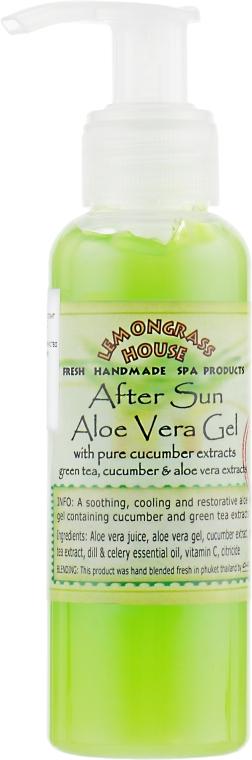 """Гель после загара """"Алоэ вера и экстракт огурца"""" - Lemongrass House Aloe Vera Gel After Sun"""