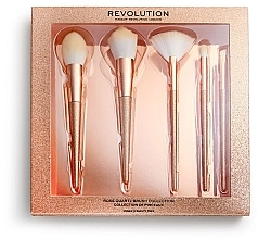 Духи, Парфюмерия, косметика Набор кистей для макияжа - Makeup Revolution Precious Stone Brush Rose Quartz