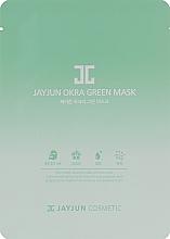 Духи, Парфюмерия, косметика Тканевая маска для лица с экстрактом бамии и зеленых трав - JayJun Okra Green Mask