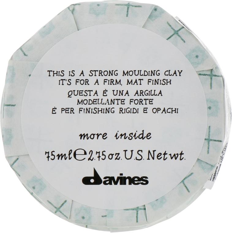 Моделирующая глина для стойкого матового финиша - Davines More Inside Strong Moulding Clay