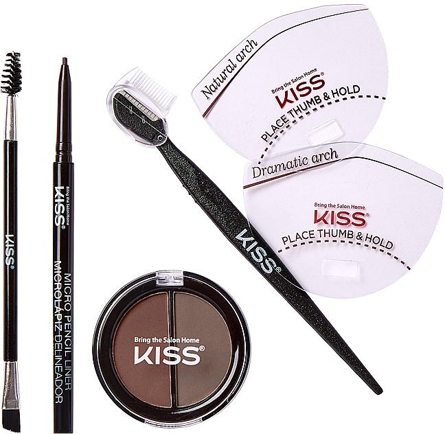Набір для моделювання брів - Kiss Beautiful Brow Kit — фото N3