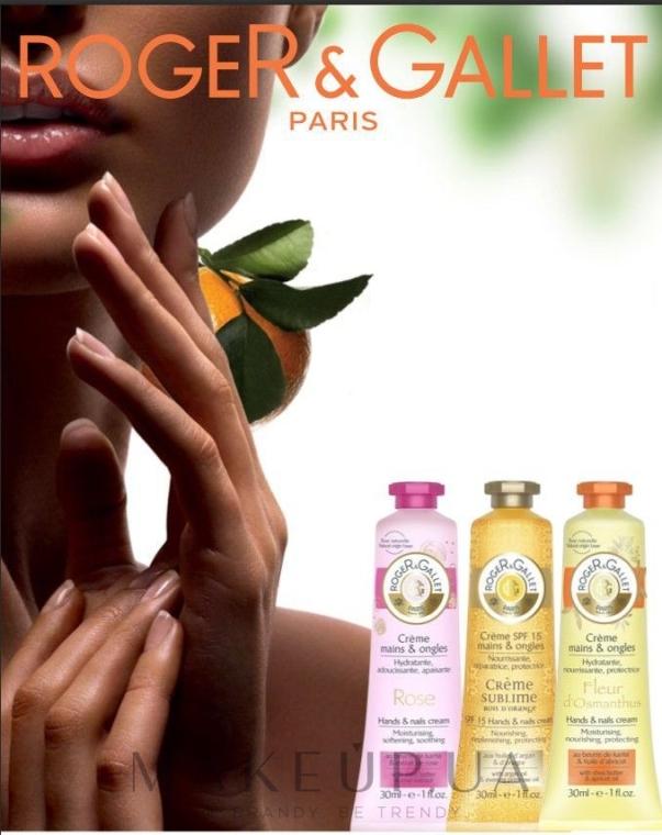 Парфумований крем для рук і нігтів - Roger & Gallet Fleur d Osmanthus Hand & Nail Cream — фото N2