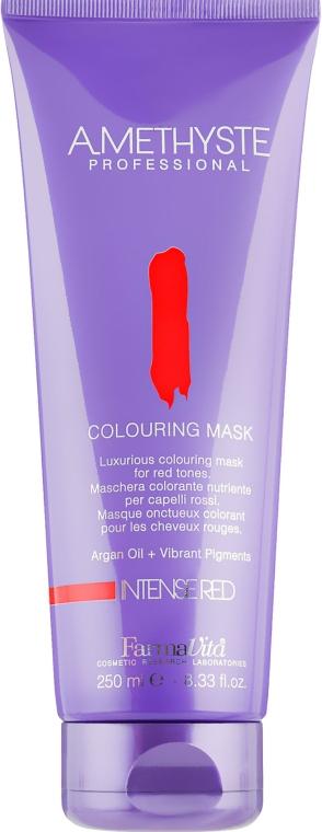 Маска для волос, красящая, для красных оттенков - FarmaVita Amethyste Colouring Mask Intense Red