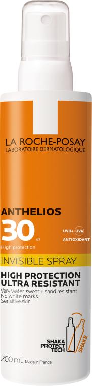 Ультралегкий солнцезащитный спрей для лица и тела SPF30+ - La Roche-Posay Anthelios Invisible Spray