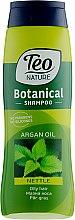 Духи, Парфюмерия, косметика Шампунь для жирных волос - Teo Nature Botanica Shampoo Nettle & Argan Oil