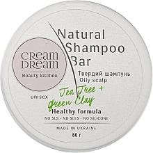 Духи, Парфюмерия, косметика Твердый шампунь для жирной кожи головы с зеленой глиной - Cream Dream beauty kitchen Cream Dream Natural Shampoo Bar