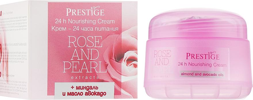 "Крем для лица ""24 часа питания"" - Vip's Prestige Rose & Pearl 24h Nourishing Cream"