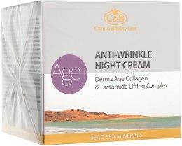 Духи, Парфюмерия, косметика Ночной крем против морщин - Care & Beauty Line Derma Age Collagen Anti-Wrinkle Night Cream