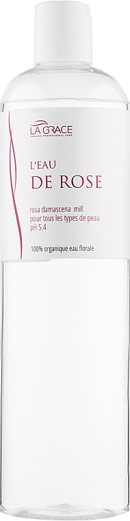 Органічна квіткова вода троянди - La Grace L'eau De Rose — фото N3