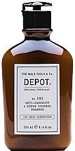 Духи, Парфюмерия, косметика Шампунь для волос, против перхоти, для жирных волос - Depot Hair Cleansings 102 Anti-Dandruff & Sebum Control Shampoo