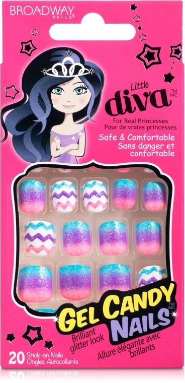 """Набор накладных ногтей """"Желейная конфетка"""" на клеевой основе - Kiss Broadway Little Diva"""